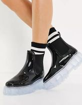 ASOS Rubber Sole Studded Street Style Leather Rain Boots Boots