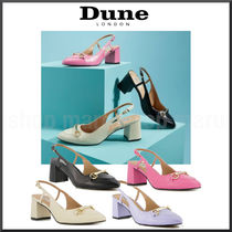 Dune LONDON Casual Style Plain Leather Block Heels Party Style