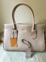 TOD'S Casual Style Calfskin 2WAY Plain Leather Elegant Style