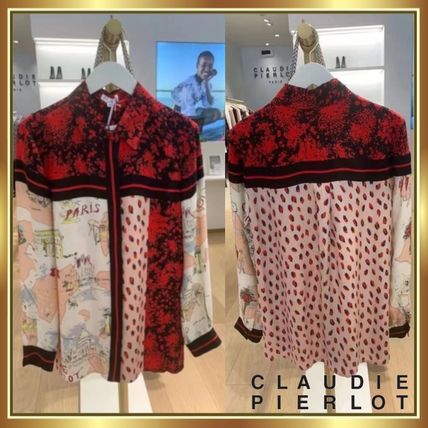 CLAUDIE PIERLOT Shirts & Blouses Casual Style Unisex Long Sleeves Medium Party Style