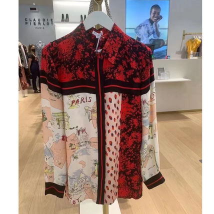 CLAUDIE PIERLOT Shirts & Blouses Casual Style Unisex Long Sleeves Medium Party Style 2