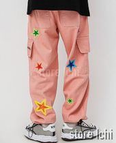 Star Street Style Cotton Oversized Cropped Pants