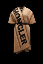 MONCLER Wool Blended Fabrics Street Style Plain Ponchos & Capes