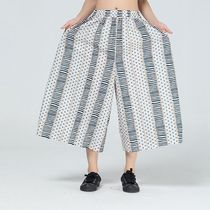 Printed Pants Stripes Dots Casual Style Silk Street Style