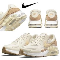 Nike AIR MAX Rubber Sole Lace-up Unisex Suede Leather Low-Top Sneakers