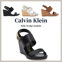 Calvin Klein Open Toe Casual Style Faux Fur Party Style Elegant Style