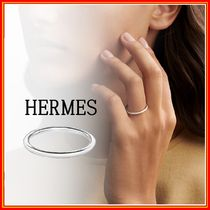 HERMES Casual Style Party Style Platinum Office Style Elegant Style