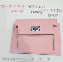 HERMES Bearn Leather Small Wallet Accessories