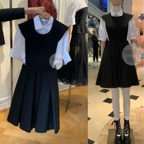 Christian Dior A-line Sleeveless Flared Elegant Style Formal Style  Dresses