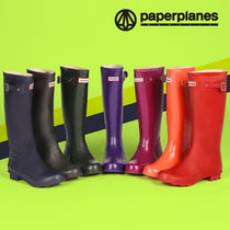 paperplanes Street Style Logo Rain Boots Boots