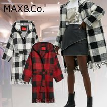Max&Co. Gingham Casual Style Wool Medium Fringes Office Style