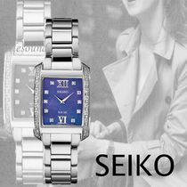 SEIKO Square Party Style Quartz Watches Jewelry Watches Stainless