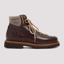 BRUNELLO CUCINELLI Mountain Boots Plain Leather Outdoor Boots