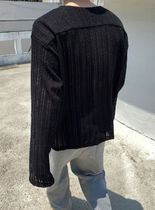 HOLY IN CODE Unisex Street Style Collaboration Plain Lace Oversized