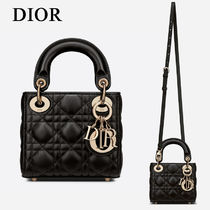 Christian Dior LADY DIOR Casual Style Lambskin Street Style 2WAY Party Style