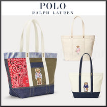 POLO RALPH LAUREN Stripes Paisley Casual Style Unisex Canvas Street Style A4