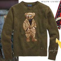 POLO RALPH LAUREN Crew Neck Short Casual Style Street Style Long Sleeves