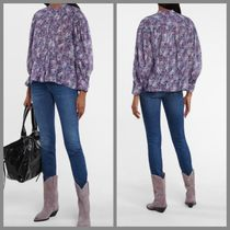 ISABEL MARANT ETOILE Flower Patterns Casual Style Long Sleeves Cotton