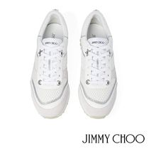 Jimmy Choo Star Platform Round Toe Lace-up Casual Style Suede