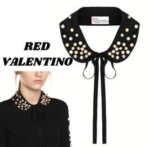 RED VALENTINO Casual Style Blended Fabrics Plain Party Style With Jewels