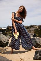 Free People Flower Patterns Casual Style Sleeveless Dresses