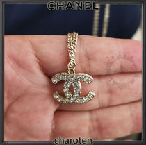 CHANEL ICON Costume Jewelry Casual Style Blended Fabrics Chain