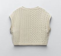 ZARA Cable Knit Casual Style Sleeveless Tanks & Camisoles