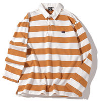 Pullovers Stripes Street Style Long Sleeves Cotton Polos