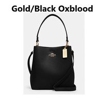 Coach Casual Style 2WAY Plain Leather Office Style Elegant Style