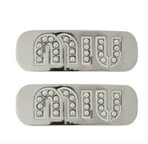 MiuMiu Casual Style Blended Fabrics Party Style Silver Platinum
