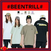 BEEN TRILL Unisex Street Style Plain Cotton Short Sleeves Logo T-Shirts
