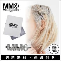 MM6 Maison Margiela Barettes Star Initial Street Style Party Style Silver Brass
