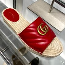 GUCCI GG Marmont Leather espadrille sandal