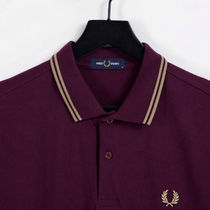 FRED PERRY Unisex Street Style Cotton Short Sleeves Logo Polos