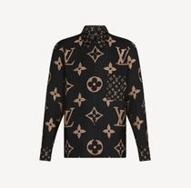 Louis Vuitton Monogram Casual Style Silk Long Sleeves Plain Party Style
