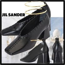 Jil Sander Casual Style Street Style Leather Pumps & Mules