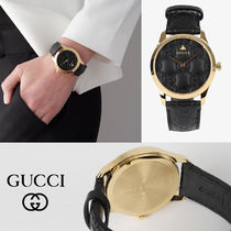 GUCCI Unisex Street Style Analog Watches