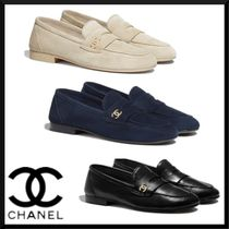 CHANEL Casual Style Suede Plain Leather Formal Style