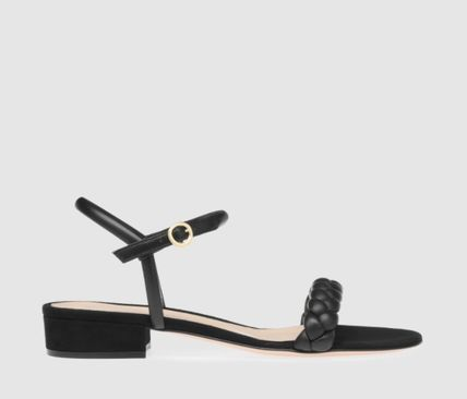 Gianvito Rossi More Sandals Open Toe Casual Style Plain Leather Block Heels Party Style 3