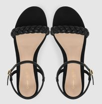Gianvito Rossi More Sandals Open Toe Casual Style Plain Leather Block Heels Party Style 5