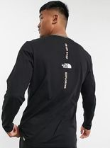 THE NORTH FACE WHITE LABEL Crew Neck Zebra Patterns Unisex Sweat Suede Street Style