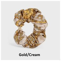 CELINE Bangles Scrunchy Casual Style Office Style Elegant Style