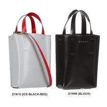 MARNI Casual Style Street Style Plain Logo Shoulder Bags