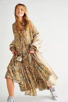 Free People Flower Patterns Casual Style Unisex Blended Fabrics Flared