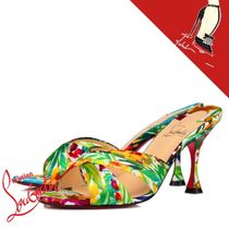 Christian Louboutin Flower Patterns Open Toe Casual Style Shower Shoes