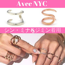 avec new york Casual Style Unisex Street Style Party Style Silver Brass