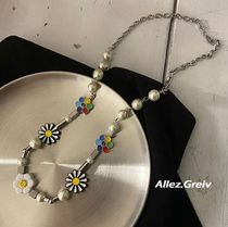Flower Patterns Street Style Necklaces & Chokers