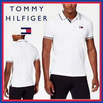Tommy Hilfiger Street Style Cotton Short Sleeves Logo Polos