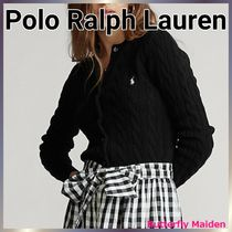 POLO RALPH LAUREN Cable Knit Casual Style Rib Street Style Long Sleeves Plain