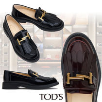 TOD'S Round Toe Rubber Sole Casual Style Blended Fabrics Chain